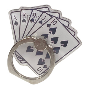 Rotating Finger Ring Stand Holder For Cell Phone iPhone Galaxy Royal Flush Hand