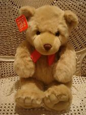Gund Large Teddy Bear With Red Bow *So Cute* New