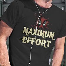 Deadpool T-shirt - Maximum Effort T Shirt in Black Unisex Free Postage 48hrs