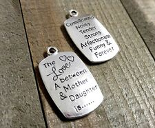 2 Word Charms Pendants Quote Charms Inspirational Charms Mother Daughter Charms