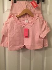 Gymboree Flower Garden Pink Crop Jacket and Skirt Sz.12 NWT Dressy!