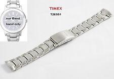 Timex pulsera reemplazo T2e551 Clásico Correa de repuesto acero Inox.