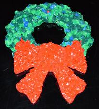 Vintage Christmas Melted Plastic Popcorn Decoration Christmas Wreath Small