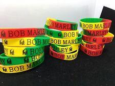 25pcs Bob Marley Jamaica Reggae Silicone Wristbands Bracelets Fashion Jewelry