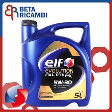 Olio motore Elf Evolution Full-Tech FE 5W30 5 Litri per motori Renault DPF FAP