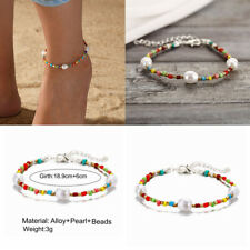 Bracelet Sandal Foot Chain Beach Jewelry Pearl Colorful Beads Charm Anklet Ankle