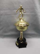 gold cup bowl male soccer trophy decorative round black base