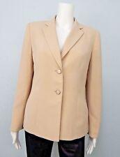 Kasper Women's Beige  Blazer Jacket Two Button Fully Lined Sz 10P New