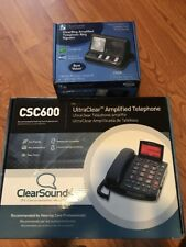ClearSounds UltraClear Amplified Telephone Csc600 & Cr200 Clear Ring Signaler