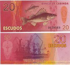 Banco de Cabinda (Angola) 20 Escudos 2013 NEUF UNC Fantasy Polymer Banknote