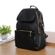 New Women Black Backpack Travel PU Leather Handbag Rucksack Shoulder School Bag