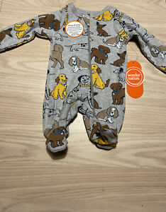 """NEW ~ """"DOGS"""" Baby Boy Preemie Outfit / Reborn Sleeper Clothes"""
