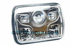 """1x 7x6"""" LED Built In CREE Bulb Seal Beam High Low Beam Headlight Assembly Chrome"""