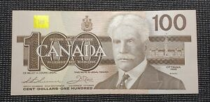 Canada 1988 Knight Thiessen BC-60c $100.00 Banknote BJJ9544380 Uncirculated