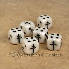 NEW 6 Free French Cross of Lorraine Dice Set 16mm War Game D6 WWII France WW2