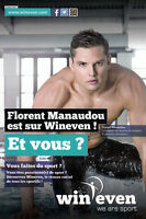 Florent Manaudou (FRA) 1.WM Kasan 2015 Schwimmen original signiert/signed !!!