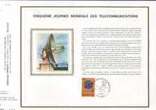Feuillet CEF Belgique n°79 5 ème journ.mond.télécom. cachet 12-5-73 Lessive