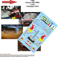 DECALS 1/43 REF 1382 CITROEN DS3 WRC SEBASTIEN LOEB RALLYE CATALOGNE 2012