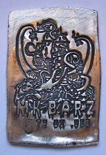 MK Barz- Pirate Skull Kraken, 5 oz. low #004 .999 Poured Silver-Bar/Coin/Bullion