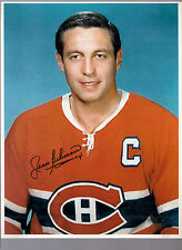 RARE CANADIENS JEAN BELIVEAU AUTOGRAPH 8 X 11 1/2  PHOTO