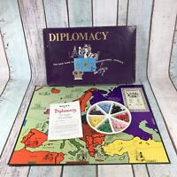 Vintage Diplomacy Board Game by Games Research 1971 Edition Complete