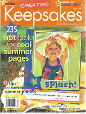 Creating Keepsakes Scrapbook Magazine July 2003 Hot Looks Summer Paper Crafting