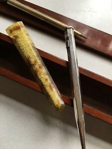 2x Antique Propelling Pencil In A Box, Sterling Silver And Rolled Gold. Yard O L