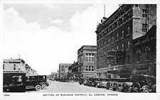El Dorado Kansas Business District Historic Bldgs Antique Postcard K43102