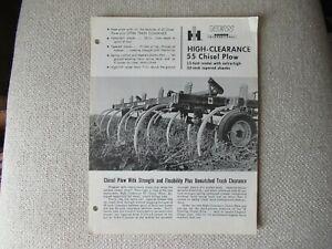 IH International 55 chisel plow specification sheet brochure