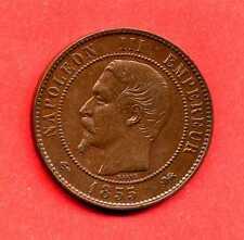 (BR.113) 10 CENTIMES NAPOLÉON III 1855 D (LYON) ANCRE SUP-