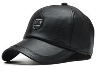 Leather Winter Baseball Cap Men Earflaps Casquette Homme Snapback ORIGINAL Hat