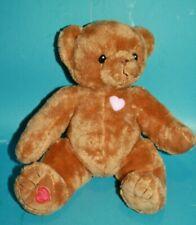 "Cherished Teddies Brown Plush Teddy Bear 8"" 2003 Soft Toy Stuffed Animal Hearts"