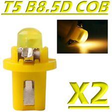 2 LED T5 B8.5D COB GIALLO Lampade Lampadine Luce Per Cruscotto Quadro Strumenti