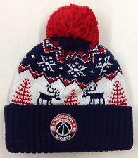 3c589015471 NBA Washington Wizards Adidas Cuffed Pom Knit Hat Cap Beanie Style  KX06Z  NEW!