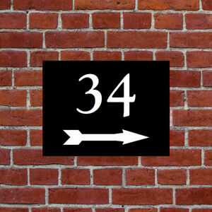 Custom Arrow house name number name sign direction left or right 9668 Outdoor
