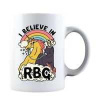 I Believe In RBG Unicorn Feminist Double-Sided Ceramic Coffee Mug Tea Cup