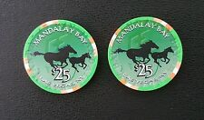 2002 mandalay bay las vegas chinese new year of the horse $25 casino chip unc