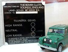 Land rover série 2a cloison gear/boîte de transfert des informations plaque/plaque 88
