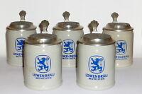 5 X Brewery Jug Loewenbraeu Brewery Lions Brew München Beer Mug Jug Brewery