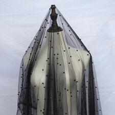 1 Yard Black Pearl Yarn Soft Tulle Mesh Fabric for Wedding Dress 160cm Wide