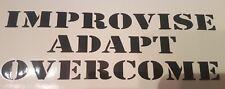 Improvise, Adapt, Overcome Funny Meme Sticker Bear Grylls Army USA Marine Corp 2