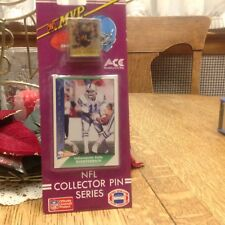 1991 MVP NFL COLLECTOR PIN SERIES JEFF GEORGE ON CARD