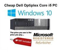 FAST DELL OPTIPLEX COMPUTER TOWER 16GB 1TB Quad Core i5 DESKTOP PC WINDOWS 10