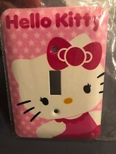 New Hello Kitty Single Toggle Light Switch Cover Wall Steel Plate Pink w/Screws