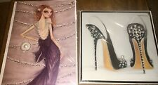 LOT 2 PAPYRUS 🎁 BIRTHDAY CARDS GIRL DRESS PEARLS PEARLY HEELS TWINS