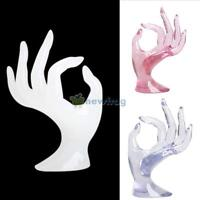 Jewelry Ring Bracelet Necklace Mannequin Hand Display Stand Showcase Holder Rack