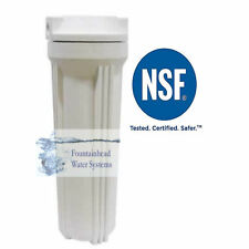 """1 Reverse Osmosis RO/DI Standard White Housings fits 2X10"""" Filters 1/4' Port."""