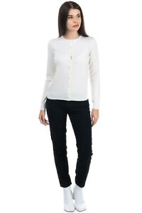 RRP €225 N.PEAL Cashmere Cardigan Size XS Thin Knit Button Front Round Neck