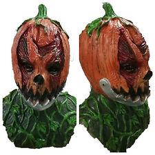 Spaventoso ARANCIONE TESTA DI ZUCCA MASCHERA mobili BOCCA mascella Halloween Horror Jack O 'Lantern