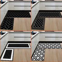 """2 pc Kitchen Rug,Non-Slip Rubber Backing Runner Mat Set(15.7""""×23.6""""+15.7""""×47.2"""")"""